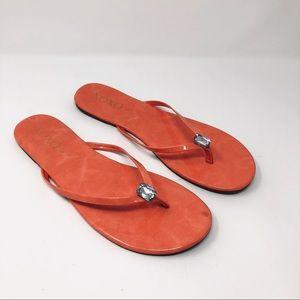 XOXO Tara Flat Thong sandals Coral size 9M